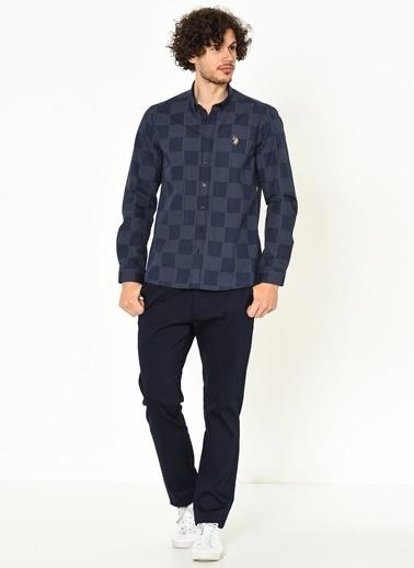 Kareli Slim Fit Uzun Kollu Gömlek-U.S.Polo Assn.